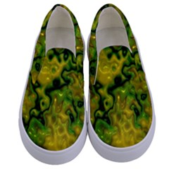 Wet Plastic, Yellow Kids  Canvas Slip Ons