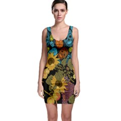 Colorful Skulls & Florals Bodycon Dress
