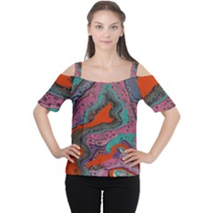 Colours Of Life Cutout Shoulder Tee