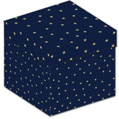 Navy/gold Stars Storage Stool 12
