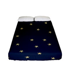 Navy/gold Stars Fitted Sheet (full/ Double Size)