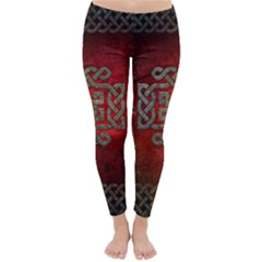 The Celtic Knot With Floral Elements Classic Winter Leggings