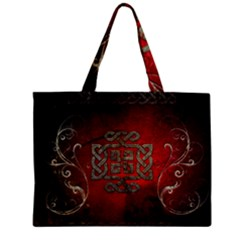 The Celtic Knot With Floral Elements Zipper Mini Tote Bag
