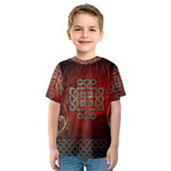 The Celtic Knot With Floral Elements Kids  Sport Mesh Tee