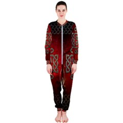 The Celtic Knot With Floral Elements Onepiece Jumpsuit (ladies)