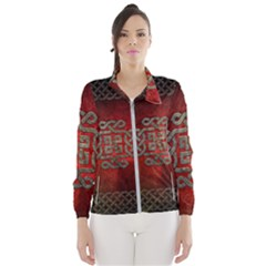 The Celtic Knot With Floral Elements Wind Breaker (women)
