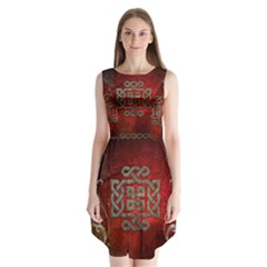 The Celtic Knot With Floral Elements Sleeveless Chiffon Dress