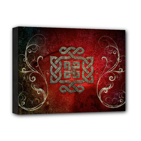 The Celtic Knot With Floral Elements Deluxe Canvas 16  X 12