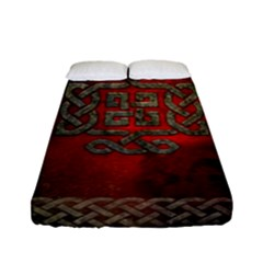 The Celtic Knot With Floral Elements Fitted Sheet (full/ Double Size)