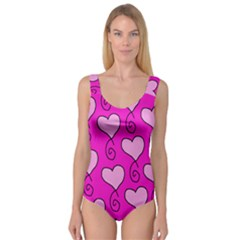 Curly Heart Bg  Pink Princess Tank Leotard