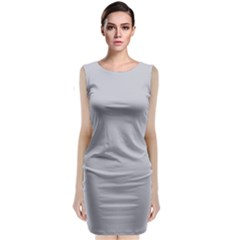 Grey Harbour Mist   Spring 2018 London Fashion Trends Classic Sleeveless Midi Dress