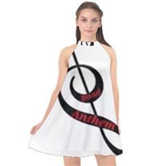 Baadanthem Halter Neckline Chiffon Dress