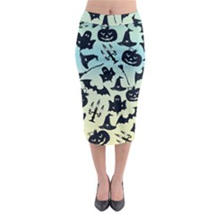 Spooky Halloween Midi Pencil Skirt