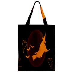 Day Hallowiin Ghost Bat Cobwebs Full Moon Spider Zipper Classic Tote Bag