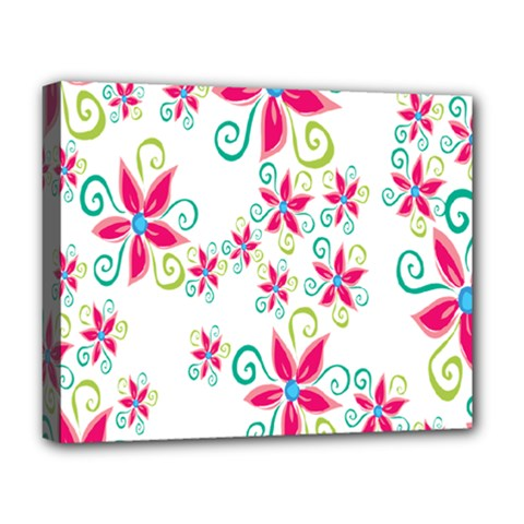 Flower Beauty Sexy Rainbow Sunflower Pink Green Blue Deluxe Canvas 20  X 16