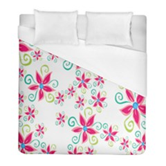 Flower Beauty Sexy Rainbow Sunflower Pink Green Blue Duvet Cover (full/ Double Size)
