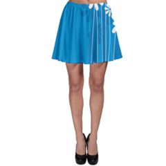 Flower Blue Skater Skirt