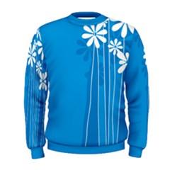 Flower Blue Men s Sweatshirt