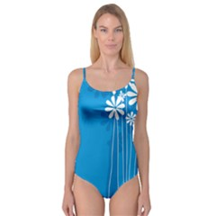 Flower Blue Camisole Leotard