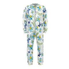 Flower Blue Butterfly Leaf Green Onepiece Jumpsuit (kids)