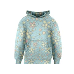 Flower Blue Butterfly Bird Yellow Floral Sexy Kids  Pullover Hoodie
