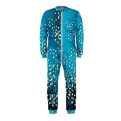 Flower Back Leaf River Blue Star Onepiece Jumpsuit (kids)
