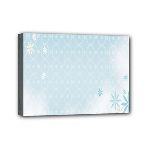 Flower Blue Polka Plaid Sexy Star Love Heart Mini Canvas 7  X 5