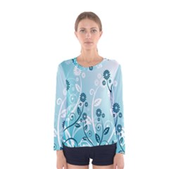 Flower Blue River Star Sunflower Women s Long Sleeve Tee