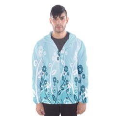 Flower Blue River Star Sunflower Hooded Wind Breaker (men)