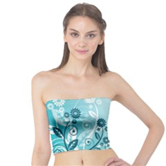 Flower Blue River Star Sunflower Tube Top