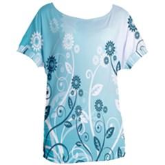 Flower Blue River Star Sunflower Women s Oversized Tee