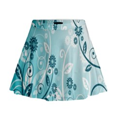 Flower Blue River Star Sunflower Mini Flare Skirt