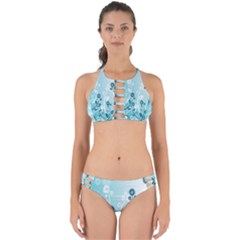 Flower Blue River Star Sunflower Perfectly Cut Out Bikini Set
