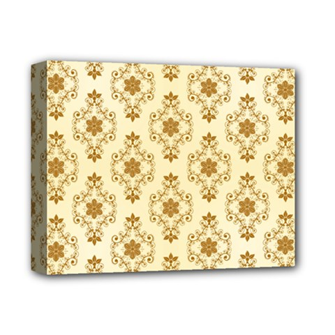 Flower Brown Star Rose Deluxe Canvas 14  X 11