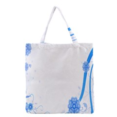 Flower Blue Sunflower Star Sexy Grocery Tote Bag