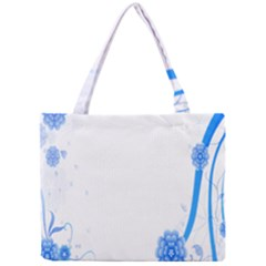 Flower Blue Sunflower Star Sexy Mini Tote Bag