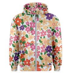 Flower Floral Rainbow Rose Men s Zipper Hoodie