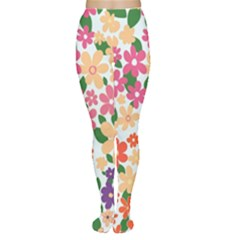 Flower Floral Rainbow Rose Women s Tights
