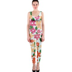 Flower Floral Rainbow Rose Onepiece Catsuit