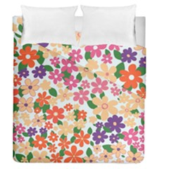 Flower Floral Rainbow Rose Duvet Cover Double Side (queen Size)
