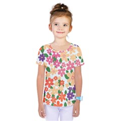 Flower Floral Rainbow Rose Kids  One Piece Tee