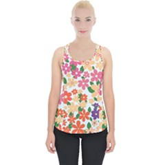 Flower Floral Rainbow Rose Piece Up Tank Top
