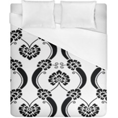 Flower Floral Black Sexy Star Black Duvet Cover (california King Size)