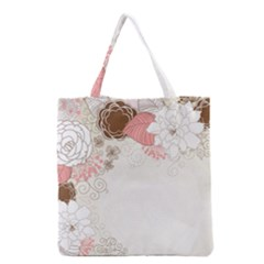 Flower Floral Rose Sunflower Star Sexy Pink Grocery Tote Bag
