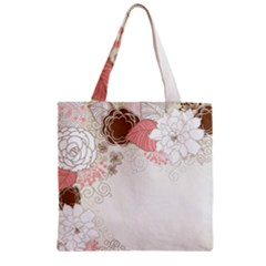 Flower Floral Rose Sunflower Star Sexy Pink Zipper Grocery Tote Bag