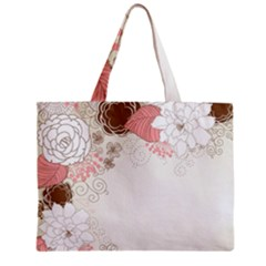 Flower Floral Rose Sunflower Star Sexy Pink Zipper Mini Tote Bag