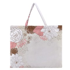 Flower Floral Rose Sunflower Star Sexy Pink Zipper Large Tote Bag