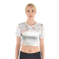 Flower Floral Rose Sunflower Star Sexy Pink Cotton Crop Top