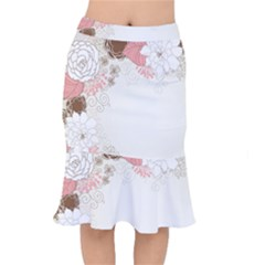 Flower Floral Rose Sunflower Star Sexy Pink Mermaid Skirt