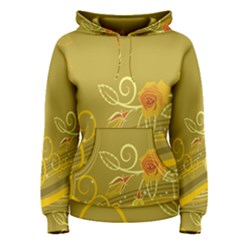 Flower Floral Yellow Sunflower Star Leaf Line Gold Women s Pullover Hoodie